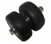 Spare Rubber Tyres Wheels  for Twin wheeld  Piano Castors